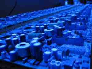 View Under UV Light - Conformal Coating